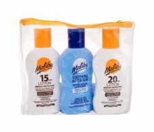 Malibu Lotion, rinkinys Sun kūno losjonas moterims ir vyrams, (Sunbathing Milk SPF20 100 ml + Sunbathing Milk SPF15 100 ml + losjonas po deginimosi 100 ml)