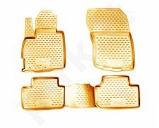 Guminiai kilimėliai 3D MITSUBISHI ASX 2010->, 4 pcs. /L48007B /beige