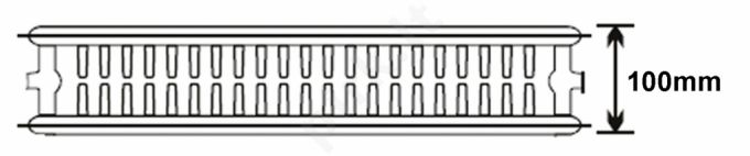 Plieninis radiatorius 22 500x500 apatinio paj.
