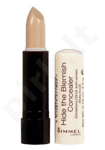 Rimmel London Hide The Blemish Concealer maskavimo priemonė Stick, kosmetika moterims, 4,5g, (001 Ivory)
