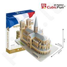3D dėlionė: Paryžiaus Dievo Motinos katedra