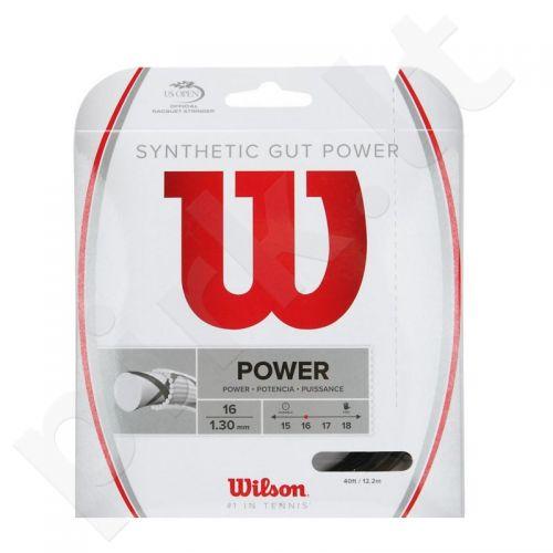 Styga teniso raketei Wilson Synthetic Gut Power 16 WRZ945200