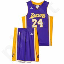 Komplektas krepšininkui Adidas Los Angeles Lakers Kobe Bryant M Replica Junior AC0558