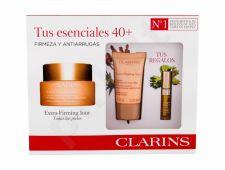 Clarins Extra Firming, rinkinys dieninis kremas moterims, (Daily Facial kremas 50 ml + Night Facial kremas Extra Firming Nuit 15 ml + lūpdažis 2,8 ml 01)