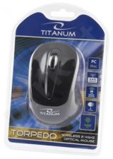 Bevielė optinė pelė Titanum 3D TM104K TORPEDO | 2.4 GHz | 1000 DPI | Juoda