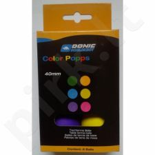 Stalo teniso kamuoliukai DONIC Color Popps 6 vnt
