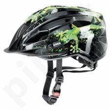 Dviratininkų šalmas Uvex Quatro Junior juoda-žalia