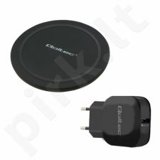 Qoltec Induction Wireless Charge RING + AC adapter Quick Charge | 10W