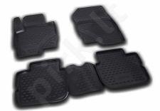 Kilimėliai 3D MITSUBISHI Colt 2009-2012, 4 pcs., 3 door black /L48011