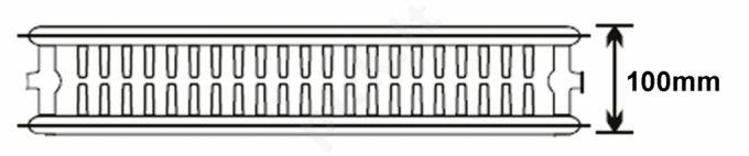 Plieninis radiatorius 22 600x500 apatinio paj.