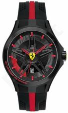Laikrodis SCUDERIA FERRARI LAP TIME vyriškas SILICON STRAP kvarcinis WR 50mt 45mm