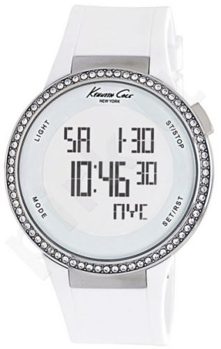 Laikrodis KENNETH COLE - DIGITAL TOUCHSCREEN SS STRASS chronografas WHITE STRAP