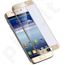 Tempered glass screen protector 3D Samsung Galaxy S7 Edge (gold, without package, 5 pcs)