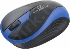 Bevielė optinė pelė Titanum 3D TM113B BUTTERFLY| 2.4 GHz | 1000 DPI | Mėlyna