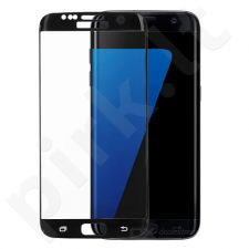 Tempered glass screen protector, 3D Samsung Galaxy S7 Edge (black, without package, 5 pcs)
