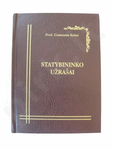 Knyga-Baras: Statybininko užrašai