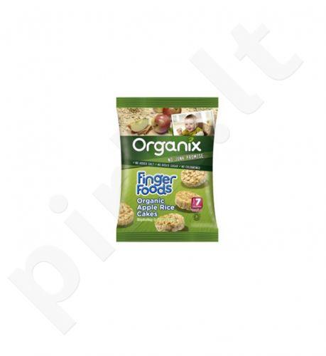 Ekologiški ryžių traškučiai su obuoliais ir cinamonu, kūdikiams nuo 7 mėn.  ORGANIX GOODIES, 50 g