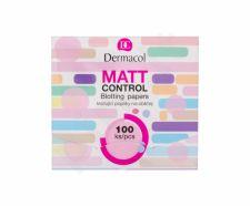 Dermacol Matt Control, drėgnosios servetėlės moterims, 100ml