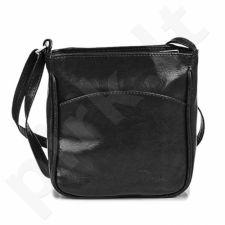 DAN-A T124 juoda rankinė iš natūralios odos , moteriška