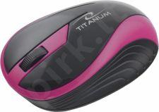 Bevielė optinė pelė Titanum 3D TM113P BUTTERFLY| 2.4 GHz | 1000 DPI | Rožinė