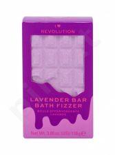 Makeup Revolution London I Heart Revolution, Chocolate Bar Bath Fizzer, vonios putos moterims, 110g, (Lavender)