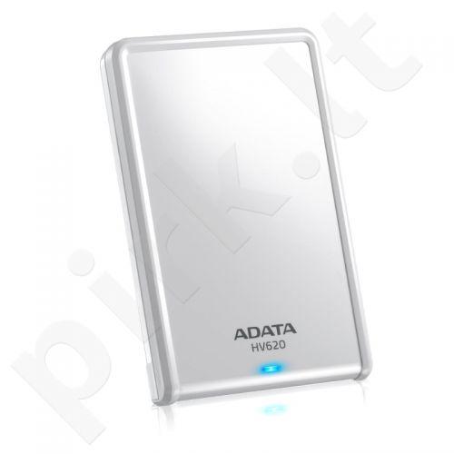 Išorinis diskas Adata HV620 2.5' 1TB USB3, Stilingas, Baltas