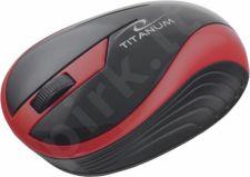 Bevielė optinė pelė Titanum 3D TM113R BUTTERFLY| 2.4 GHz | 1000 DPI | Raudona