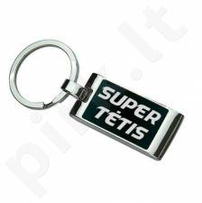 """Graviruotas raktų pakabukas """"Super tėtis"""""""