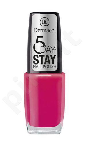 Dermacol 5 Day Stay nagų lakas, kosmetika moterims, 10ml, (8)