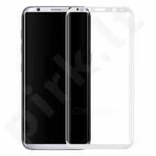 Tempered glass screen protector 3D, Samsung Galaxy S8 (white)