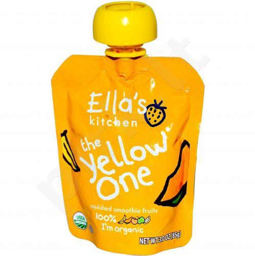 Ekologiška bananų, obuolių, mangų ir abrikosų tyrelė vaikams nuo 4 mėnesių ELLA'S KITCHEN, 90 g