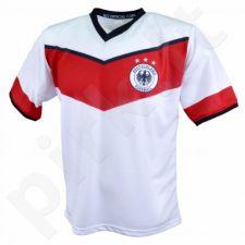 Marškinėliai futbolui Reda Niemcy Junior balta-raudona