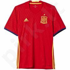 Marškinėliai futbolui Adidas Hiszpania Home Jersey Euro 2016 AI4411