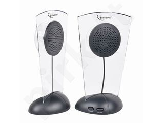 Kolonėlės Gembird Stereo garsiakalbiai su apšvietimu 2.0 sistema