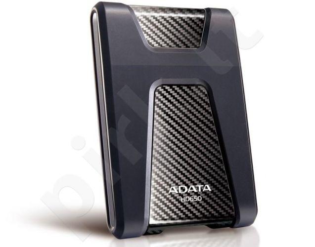 Išorinis diskas Adata Durable HD650 1TB USB3 Juodas, Atsparus smūgiams