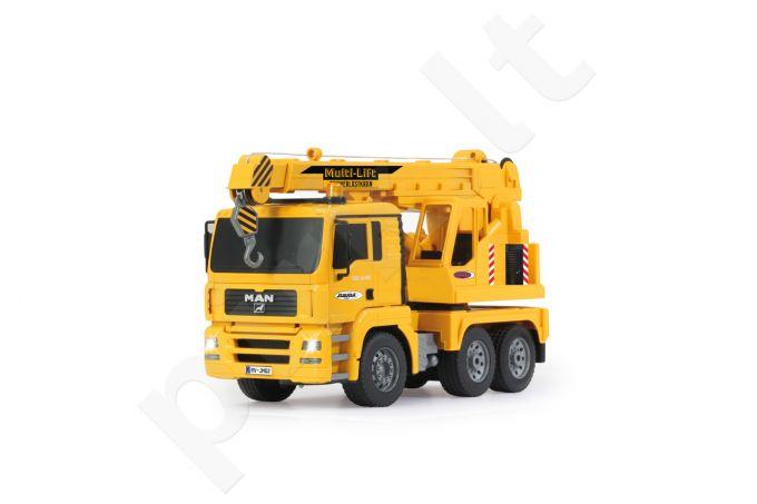 Radio bangomis valdomas Heavy duty crane MAN 1:16