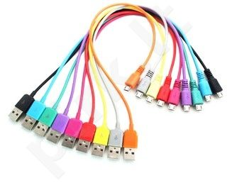4World Kabelis USB 2.0 MICRO 5pin, AM / B MICRO perkėlimo/įkrovimo 1.0m juodas