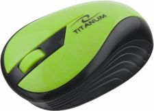Bevielė optinė pelė Titanum 3D TM114G RAINBOW | 2.4 GHz | 1000 DPI | Zöld