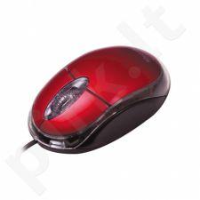 Optinė pelė MSONIC USB 1200dpi Raudona