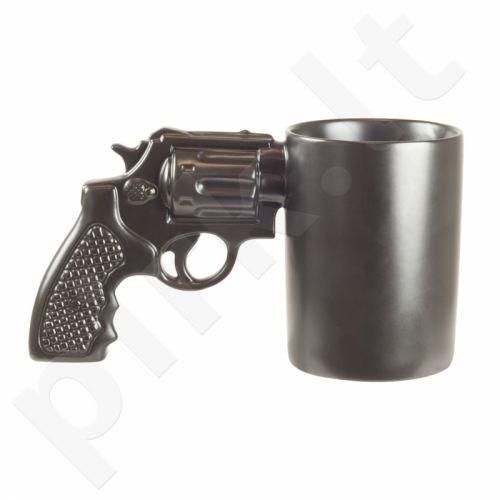 Gigantiškas ginklo formos puodelis