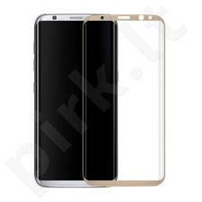 Tempered glass screen protector 3D, Samsung Galaxy S8 (gold)
