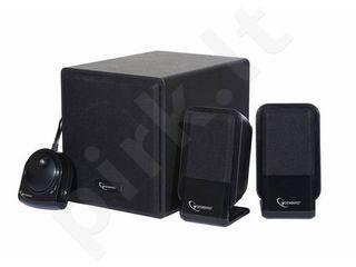 Kolonėlė Gembird Multimedia stereo garsiakalbiai 2.1 sistema, 340W, Juoda