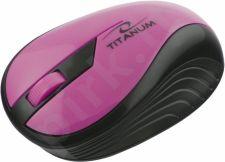 Bevielė optinė pelė Titanum 3D TM114P RAINBOW | 2.4 GHz | 1000 DPI | Rožinė