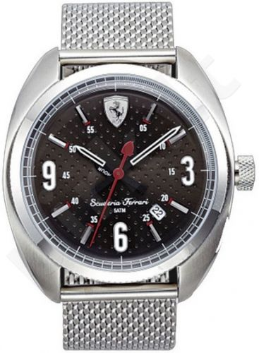 Laikrodis SCUDERIA FERRARI FORMULA SPORTIVA vyriškas S /S apyrankė kvarcinis WR 50mt