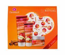 Dermacol Apple & Cinnamon, Aroma Ritual, rinkinys dušo želė moterims, (dušo želė 250 ml + kūno pilingas 200 g + rankų kremas 100 ml)