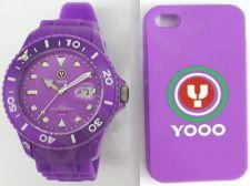 YOOO Gents Purple YW0008 vyriškas laikrodis