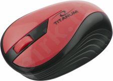 Bevielė optinė pelė Titanum 3D TM114R RAINBOW | 2.4 GHz | 1000 DPI | Raudona