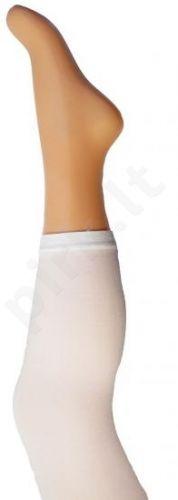 Vienspalvės baltos spalvos tamprės iš mikrofibros 40 denų storio (dydžiai nuo 68 iki 158 cm)