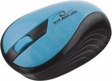 Bevielė optinė pelė Titanum 3D TM114T RAINBOW  |2.4 GHz| 1000 DPI|Žalsvai melsva