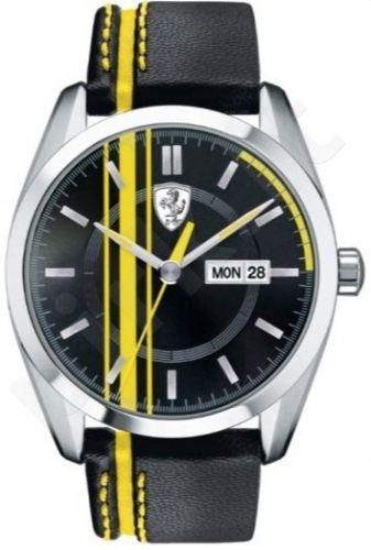 Laikrodis SCUDERIA FERRARI D50 vyriškas oda STRAP kvarcinis WR 50mt